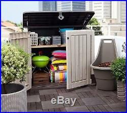 Garden Storage Shed Bin Box EXTRA LARGE Container Bikes Lawn Mower Outside Home