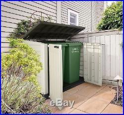 Garden Storage Shed Bin Box Extra Large Container Bikes Lawn Mower Outdoor Patio