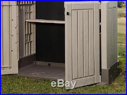 Garden Storage Shed Unit Waterproof Outdoor Patio Large Box Beige/Brown NEW