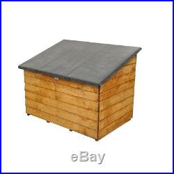 Garden Tool Chest Storage Box Top Opening Lid Large Wood Unit Outdoor Patio