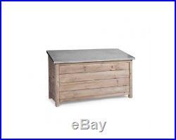 Garden Trading Aldsworth Outdoor/Indoor Large Wooden Storage Box Zinc Lid