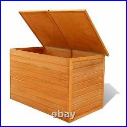 Garden Wooden Storage Box Large Lid Outdoor Patio Water Resistant Fir Wood 650L