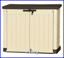 Gardens Storage Shed Bin Box Extra Large Outside Container Bikes Lawn Mower Home