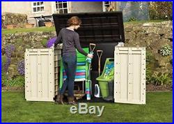 Gardens Storage Shed Box Bin Extra Large Container Lawn Mower Bikes Outside Home