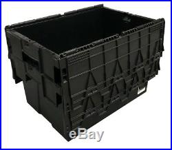 George UTZ Black 56 Litre Plastic Storage Boxes Containers Crates Totes + Lids