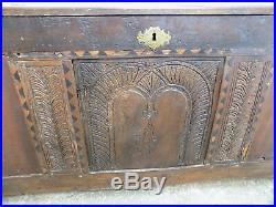 Georgian, large, oak, mule chest, ottoman, bed end, box, chest, blanket, storage, trunk