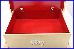 Gold & Red Extra Large Wooden Storage Box For 16 Pairs Of Shoes 2 x Drawers