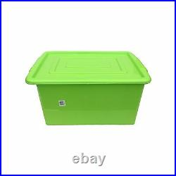 Green Plastic Large 52l Litre Storage Box Tub Container With LID Toy Box Kids