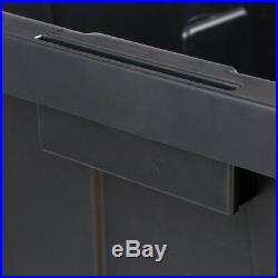 HDX 55 Gal (5 Pack) Large Storage Bin Tote Durable Plastic Snap On Lockable Lid
