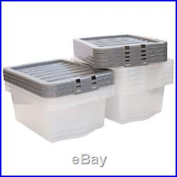 Home Office Storage Boxes Large Clear Plastic Containers