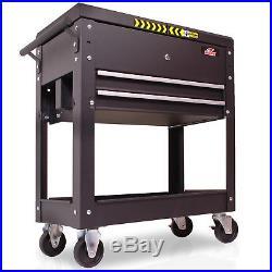Hawk Heavy Duty Large Portable Rolling Diy Garage Tool Storage Trolley Box Cart