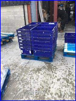 Heavy Duty Plastic Storage Containers Box Boxes LARGE 600X400X300 / 65Ltr x30