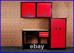 Hilka Garage Tool Storage Cupboards Wall Metal Unit Box Workbench Cabinet Set