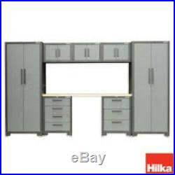 Hilka Large 8 Piece Garage/Workshop Wall Metal Storage Cupboard/Tool Box Cabinet