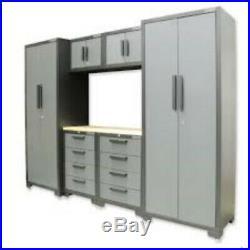 Hilka Large 9 Piece Garage/Workshop Wall Metal Storage Cupboard/Tool Box Cabinet