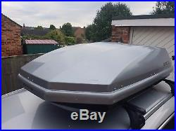 Huge Exodus 470 ltr litre Silver Grey Car Roof Box 470L Large Car Secure Storage