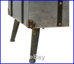 Industrial Coffee Table Large Metal Storage Vintage Trunk Rustic Blanket Box New