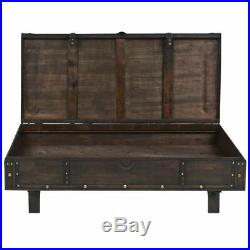 Industrial Style Coffee Table Wooden Large Chest Trunk Storage Box Side Tables