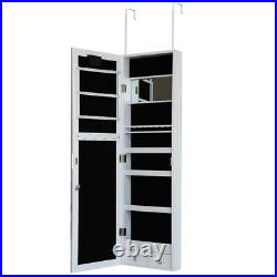 Jewellery Box Large Jewelry Cabinet Armoire Mirror Hook Hang Storage Case Lights