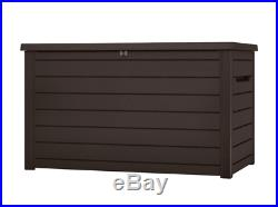 Keter Extra Large Outdoor Garden Storage Container Unit Box Trunk Wheeled Chest