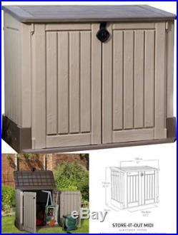 Keter Garden Outdoor Patio Wheelie Bin Storage Box Furniture Container Large