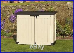 Keter Garden Storage Box Outdoor Shed Extra-Large Garden Furniture Bike Shed
