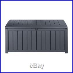 Keter Glenwood Outdoor Storage Box/Unit/Chest Home Garden Backyard 17198358