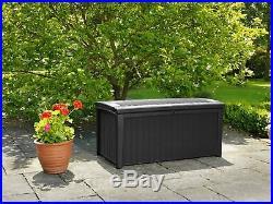 Keter Murano Plastic 400L Large Garden Storage Box Brown