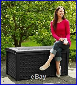Keter Murano Plastic 400L Large Garden Storage Box Brown. From Argos on ebay