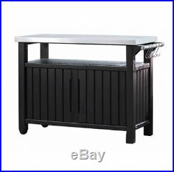 Keter Outdoor Storage Unit Large Square Garden Patio Balcony Table Stand Box NEW
