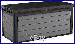Keter Storage Deck Box Garden Outdoor Store Tool Chest 570 Litre Large Trunk XL