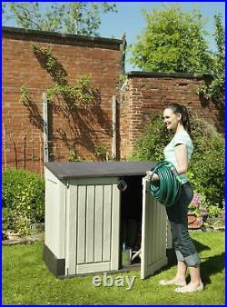 Keter Store It Out Midi Lockable Outdoor Garden Storage Box 845L Beige/Brown