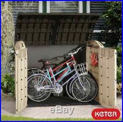 Keter Woodland Ultra XL Wheelie Bin / Bike /Garden / Utility Shed