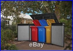 Keter XL Large Horizontal Shed Garden Outdoor Storage Box Bin Bike Tools  Toys