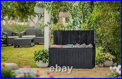 Keter XL Large Storage Shed Garden Outdoor Box Lockable Outside Box With Wheels