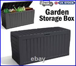 Keter XL Large Storage Shed Garden Outside Box Bin Tool Store Lockable