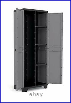 Kis Stilo Tall Utility Cabinet Garden Storage Cupboard (L68 x D39 x H173cm)