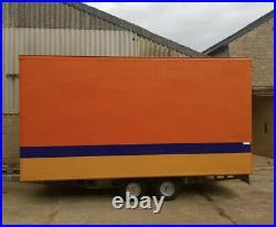 LARGE BOX TRAILER. 14ft Twin Axle Trailer. Storage Box. WATERTIGHT TRAILER