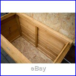 LARGE Garden Shed Wooden Storage Box Outdoor Solid Wood Tools Utility Chest 300L