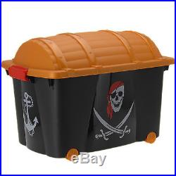 Large Kids Boys Pirate Treasure Chest Bedroom Storage Toy