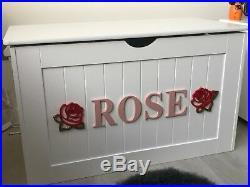 LARGE Personalised Wooden Toy Box Storage Bespoke Chest Nursery