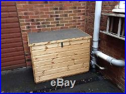 Large Size Timber Wooden Garden Store 5ftx3ftx3ft Deck Box