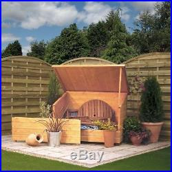 LARGE Wooden Bike Shed Garden Storage Box Utility Store Tools Cupboard Pent Roof