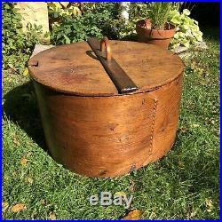 Large 19th Century Scandinavian Bentwood Tine Box Storage Container Poker Decor