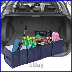 Large 4 In 1 Foldable Folding Car Boot Bag Storage Box Tidy Travel Organiser