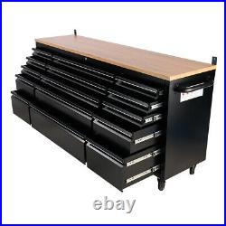 Large 72inch Workshop Tools Chest Storage Tool Cabinet Box Drawers Case Wheeled