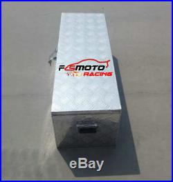 Large Aluminum Tool Box Chequer Plate Site Trailer Chest Van Truck Lorry Storage