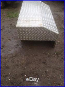 Large Aluminum checker plate Lockable Storage Box for Tools, Equipment etc