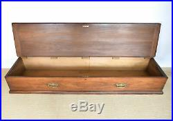 Large Antique Blanket Box, Trunk, Chest, Storage, Mahogany, lovely condition