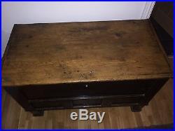 Large Antique German C1880 Wooden Chest